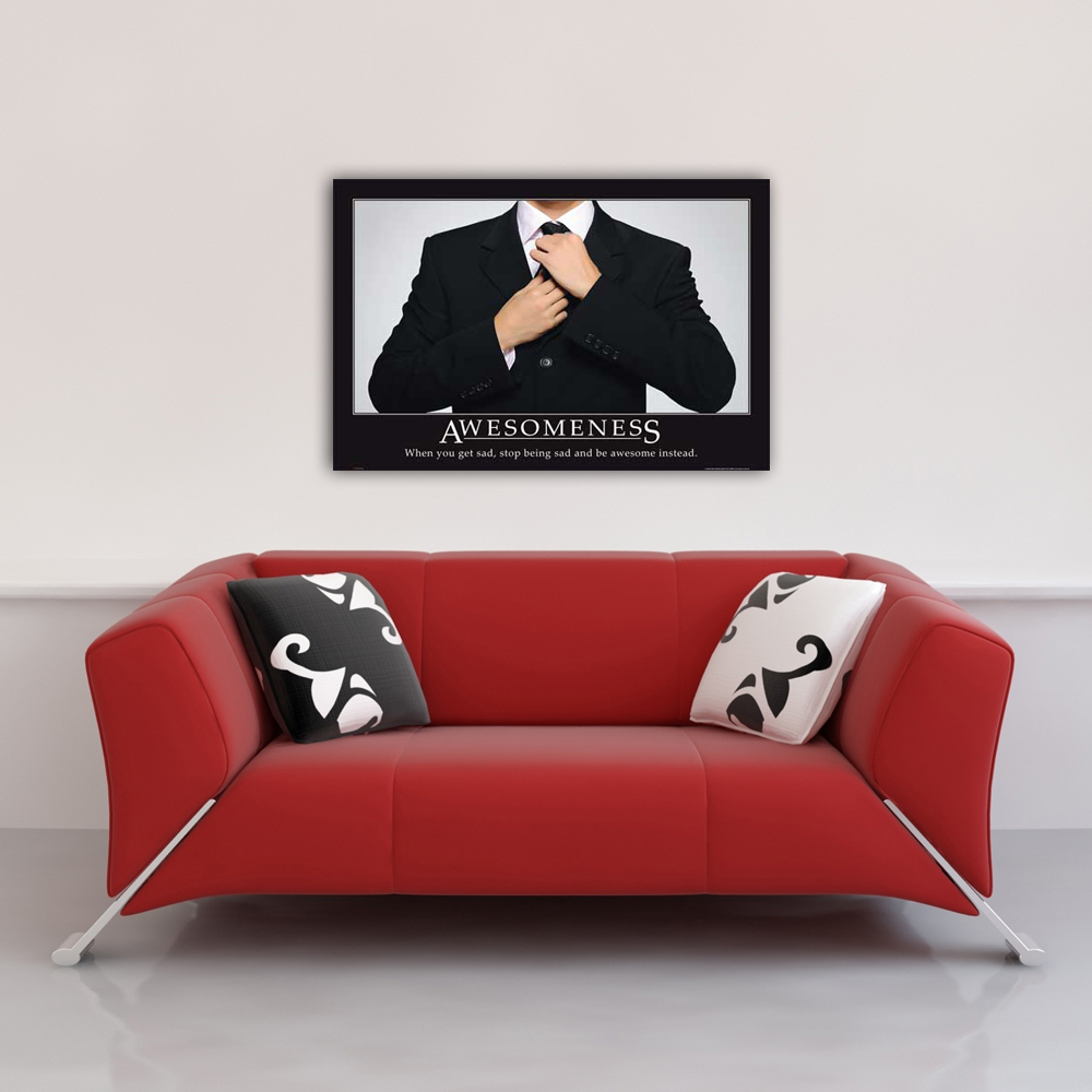Motivational - Poster - Awesomeness Suit Vorschau Sofa
