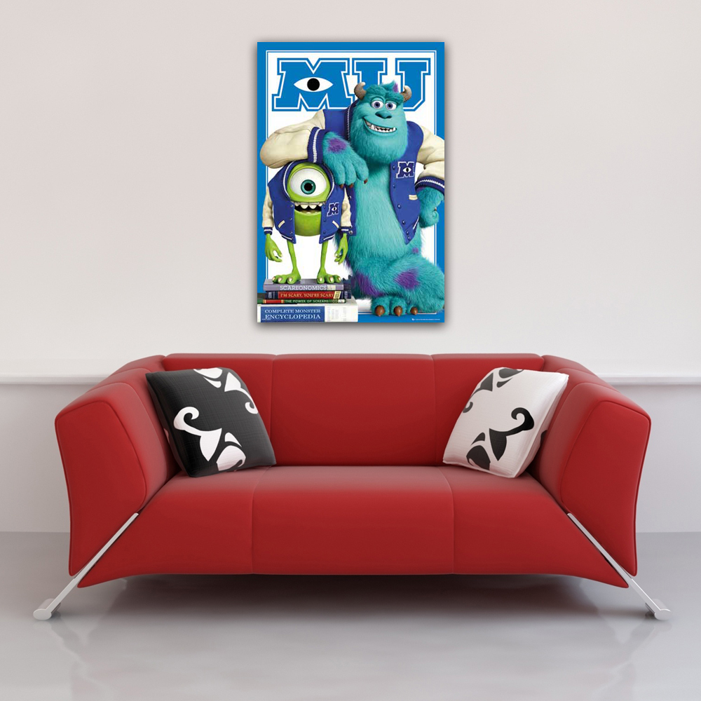Monsters University - Poster - Mike Sulley college jacket Vorschau Sofa