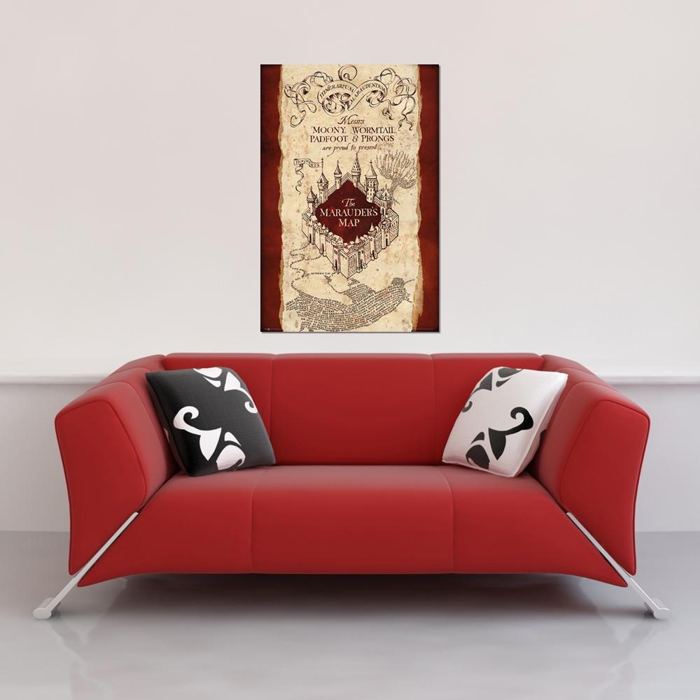 Harry Potter - Marauders map - Poster - 61x91,5