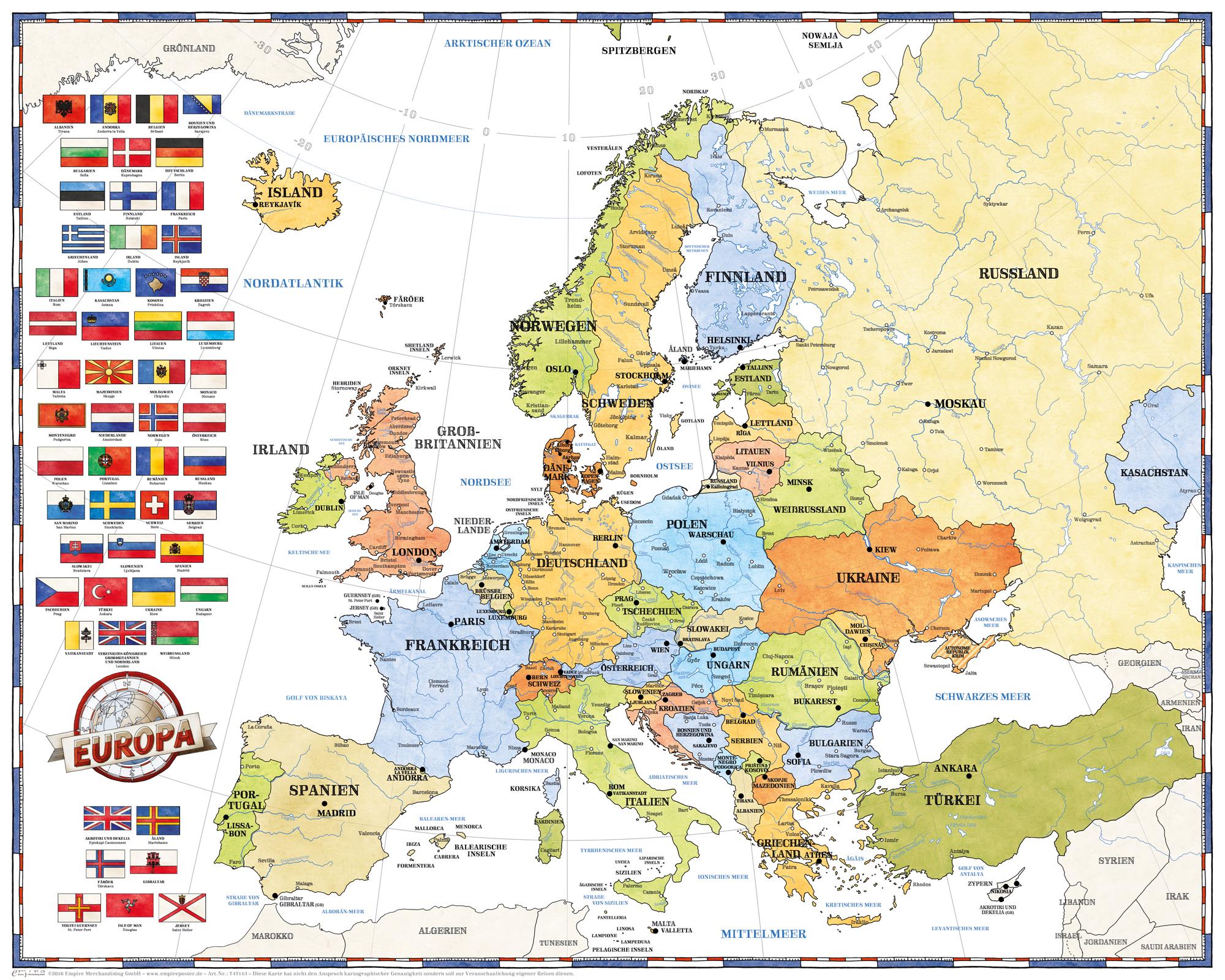 Europa Rubbelkarte