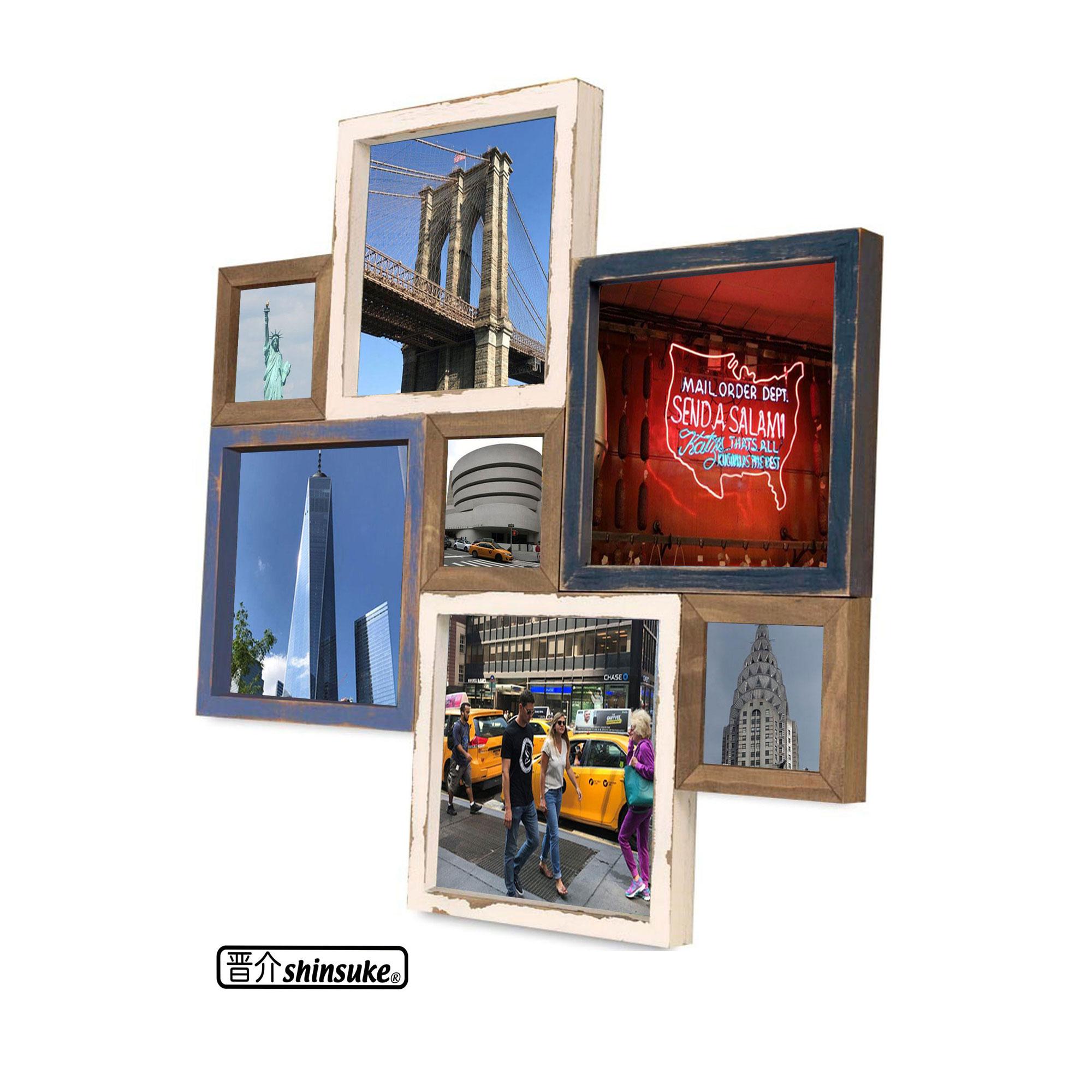 Collage Bilderrahmen - Santorini Multishot - Wechselrahmen - 41x41