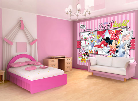 Disney - Foto-Tapete Disney Minnie Mouse Boutique - Foto-Tapeten ...