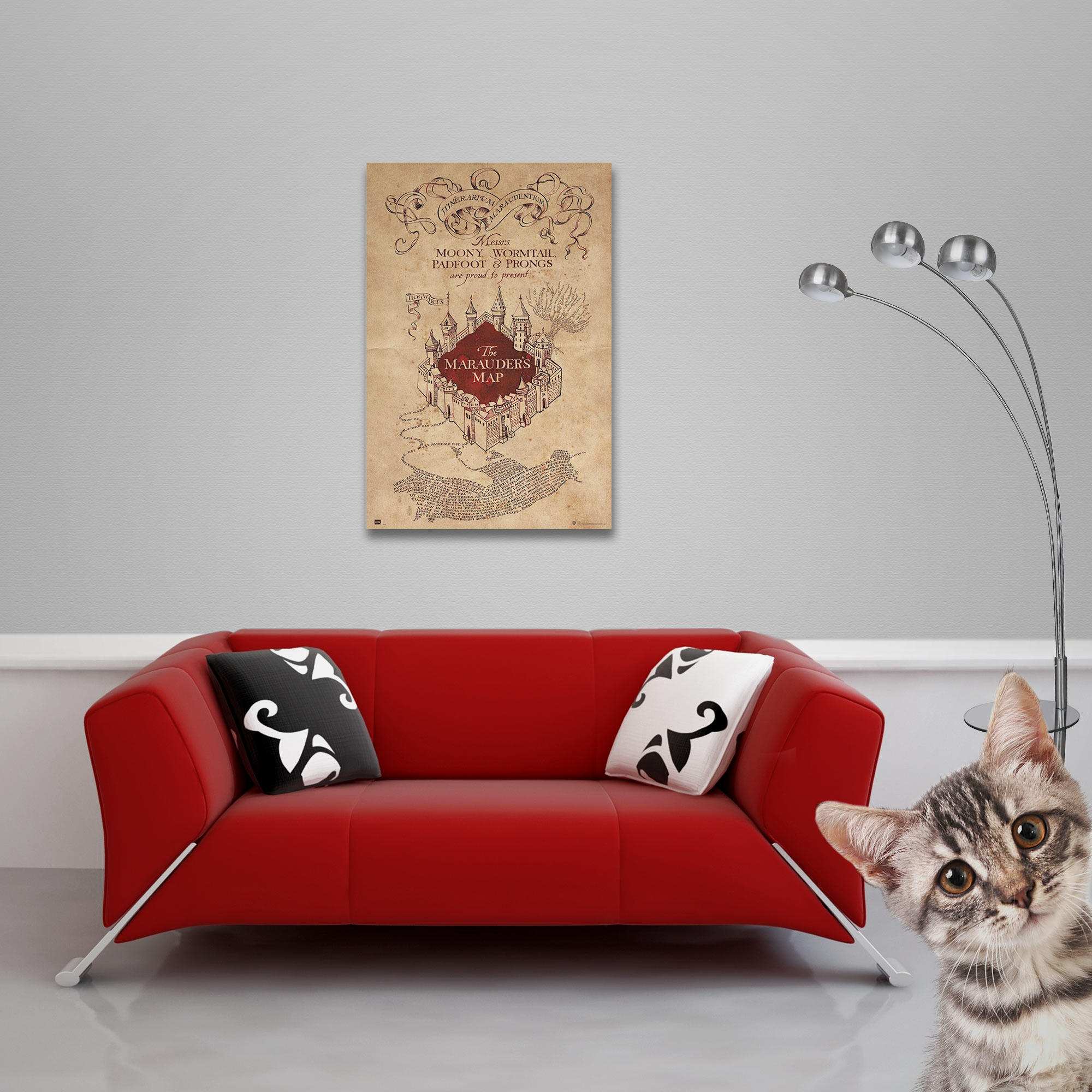 Harry Potter - Poster - Hogwarts - Marauders Map Vorschau Sofa