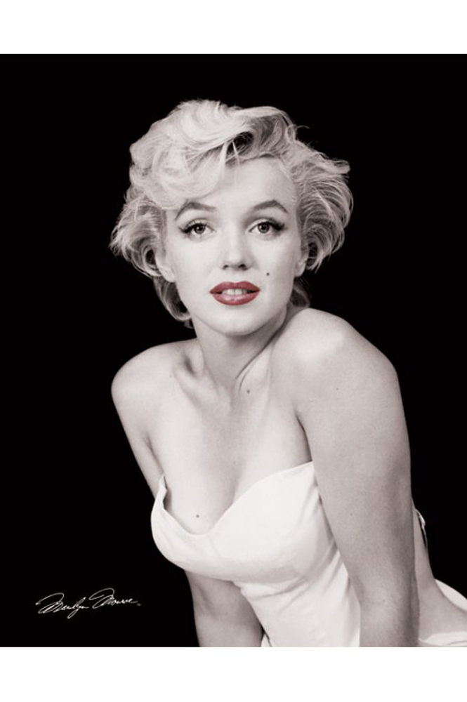 marilyn monroe red lips mini poster 40x50. Black Bedroom Furniture Sets. Home Design Ideas