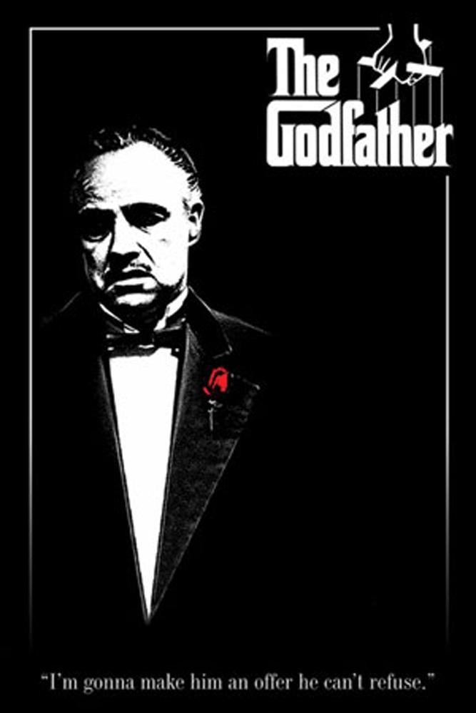 Der Pate - Rose - Marlon Brando Film Movie Kino - Poster Druck ...