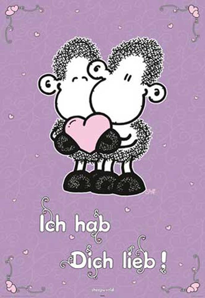 Sheepworld - ich hab Dich lieb - Poster Druck - Größe
