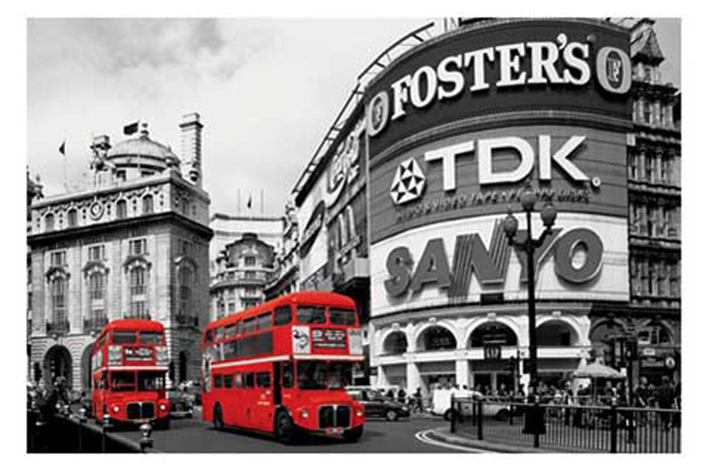 london piccadilly circus colourlight poster 91 5x61. Black Bedroom Furniture Sets. Home Design Ideas