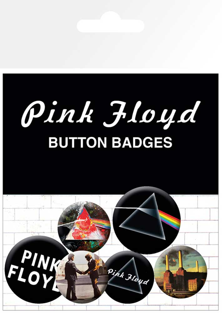 PINK FLOYD DARK SIDE OF THE MOON 5 PACK OF BADGES NEW OFFICIAL MERCHANDISE
