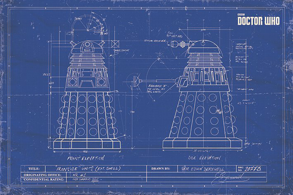 DOCTOR WHO - Dalek Blueprint - TV-Serie Film Poster Plakat Druck ...