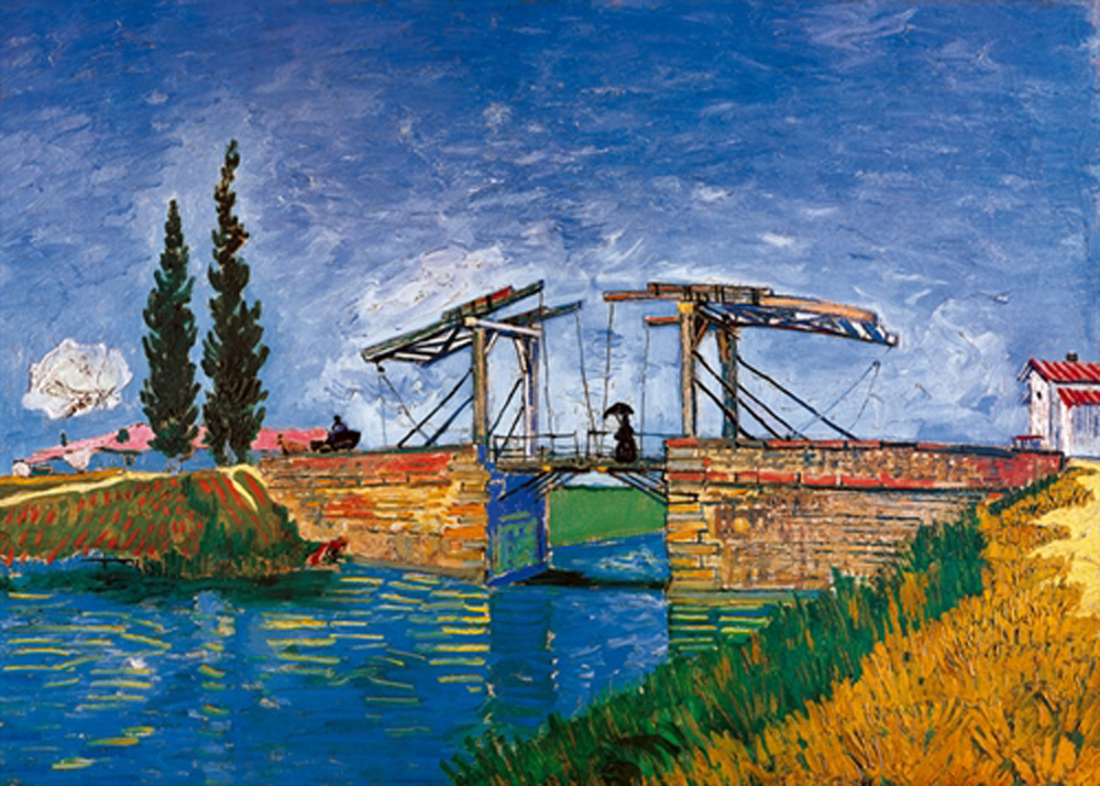 van gogh vincent il ponte di langlois landschaften br cke kunstdruck 70x50cm ebay. Black Bedroom Furniture Sets. Home Design Ideas
