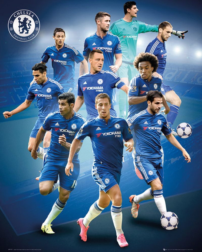 Chelsea FC - Players 15/16 - Mini-Poster - 40x50