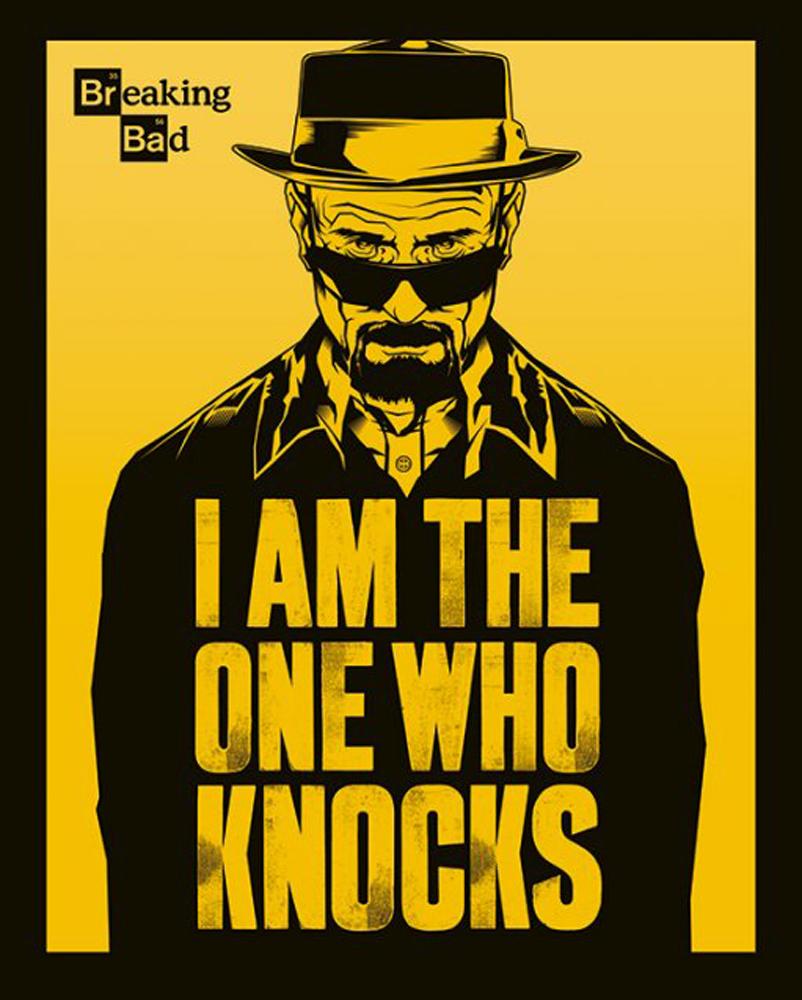 Breaking Bad I Am The One Who Knocks - TV-Serie Film Mini Poster 40x50cm