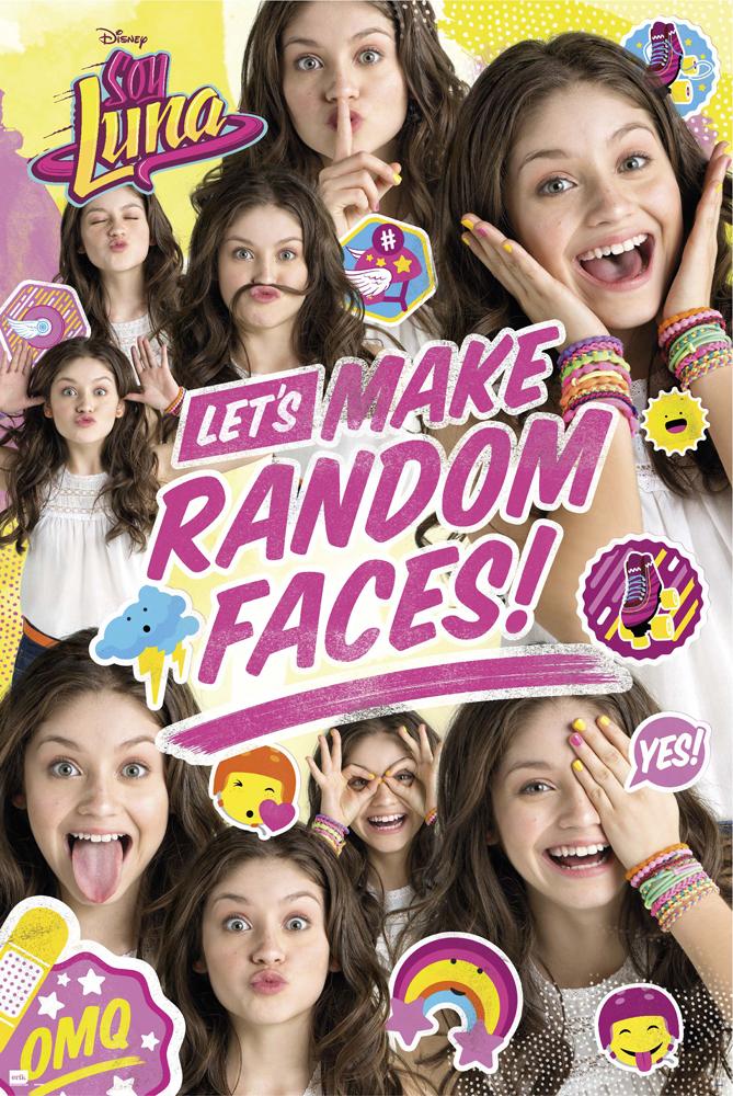 Soy Luna Random Face Group Disney Serie Poster Druck Plakat