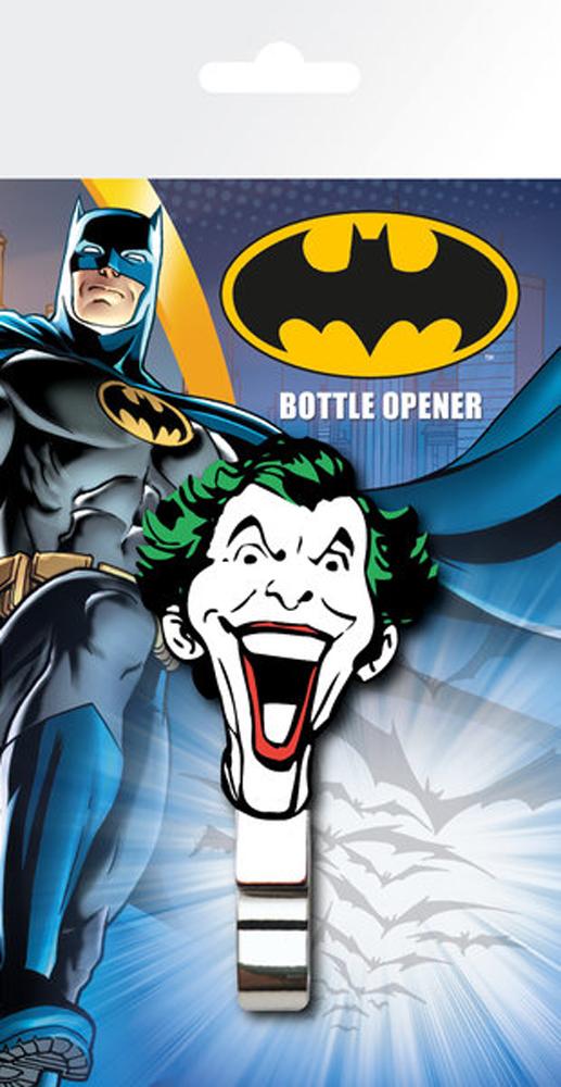 DC Comics - Joker Face Flaschenöffner mit Gummigriff - Größe ca. ca. 4x8 cm