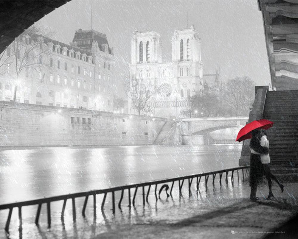 Paris Notre Dame Kiss Schwarz Weiss Stadte Plakat Mini Poster