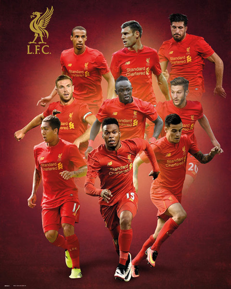 Details Zu Fussball Liverpool Players 16 17 Mini Poster Plakat Druck Grosse 40x50 Cm