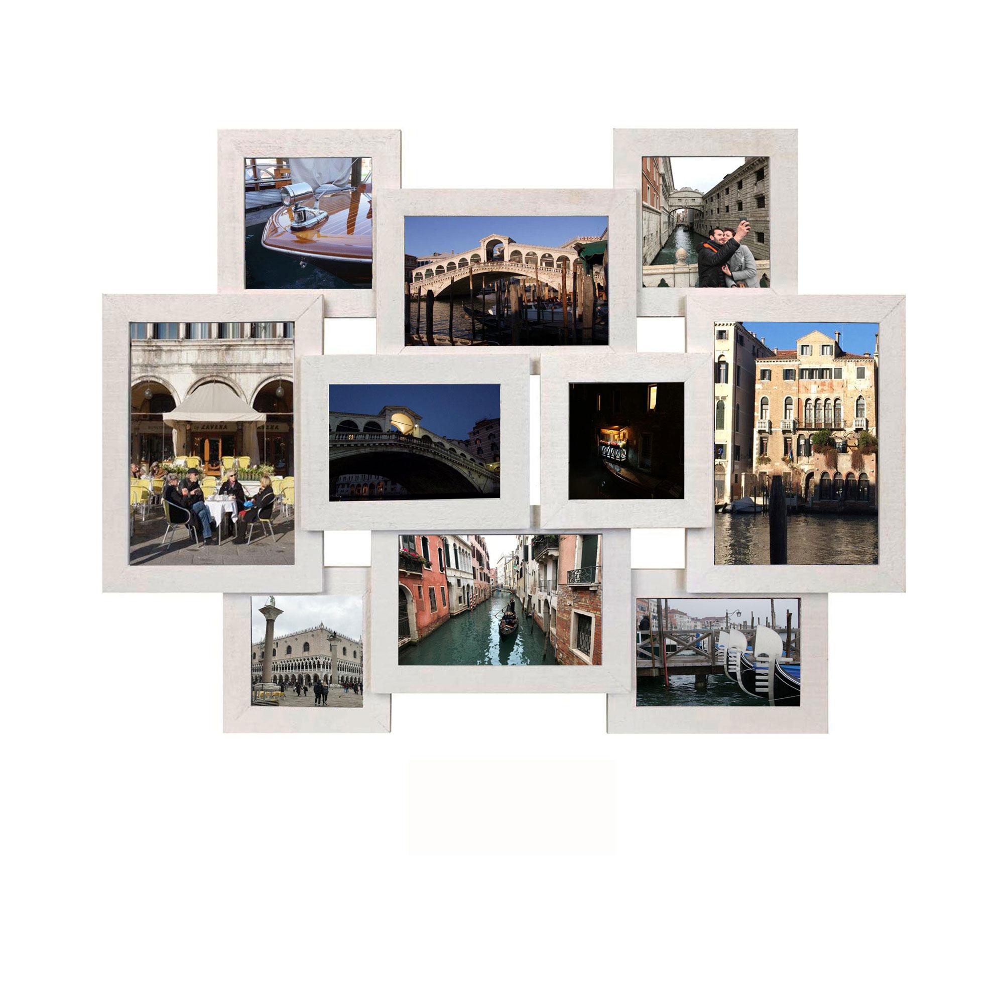 10er collage bilbao wei bilderrahmen holzrahmen mdf rahmen gr e ca 57x43 cm 4033705751478. Black Bedroom Furniture Sets. Home Design Ideas