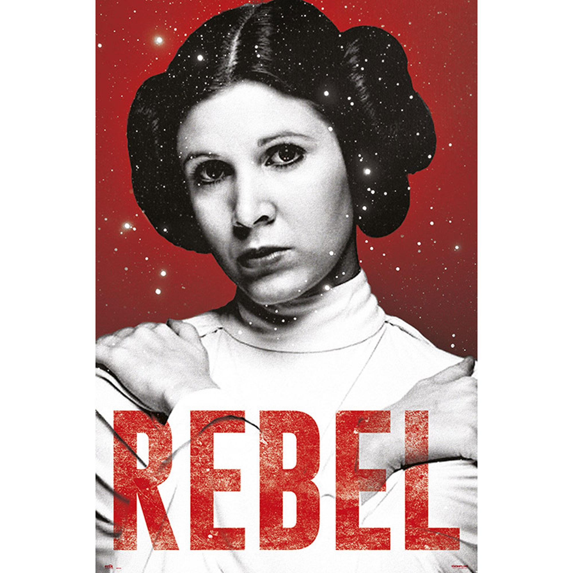 Star Wars - Leia - Rebel - Poster Plakat Druck - Größe 61x91,5 cm | eBay