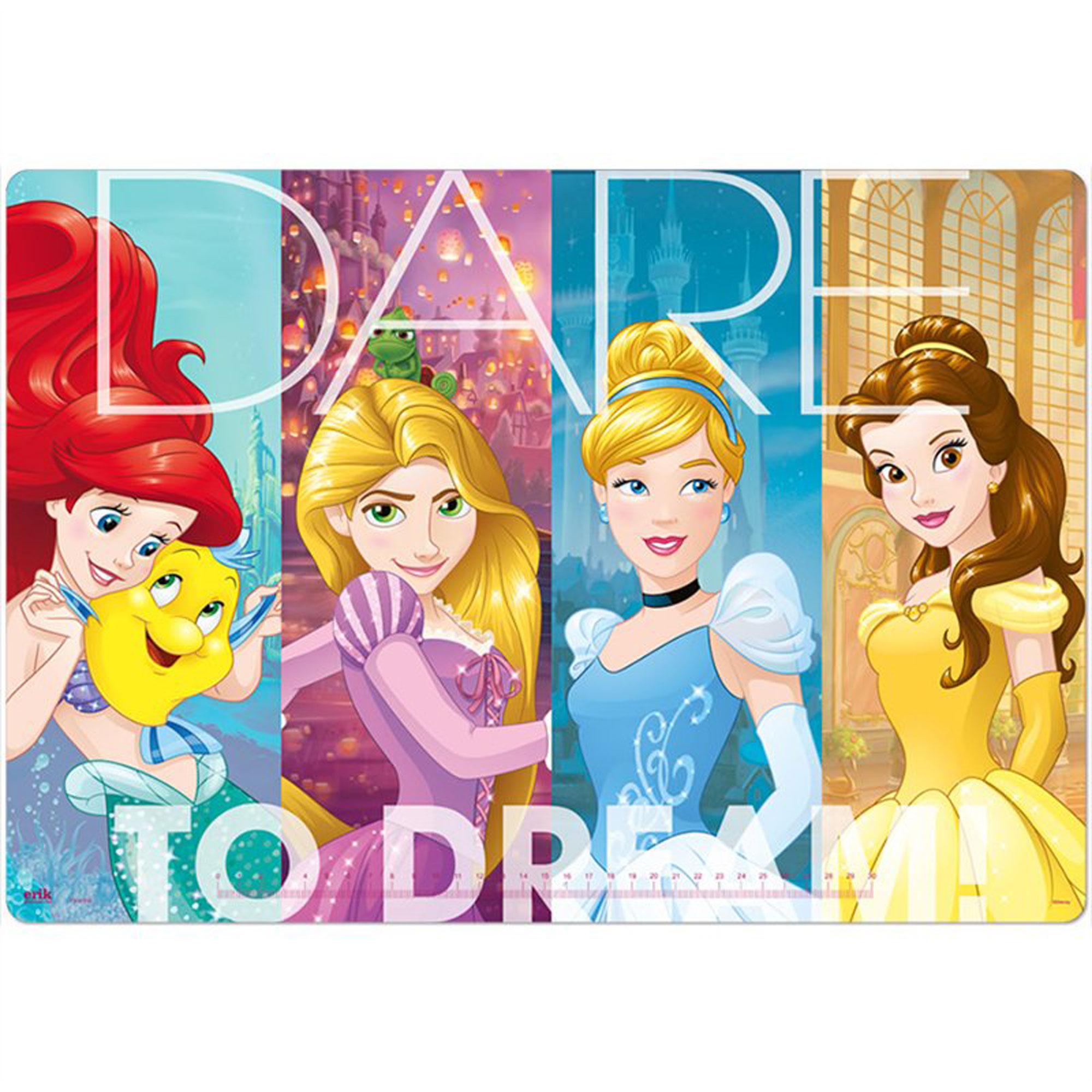 DK02 Disney Princess PVC Schreibtischunterlage 50 x 35cm mit 2 Seitenfächern