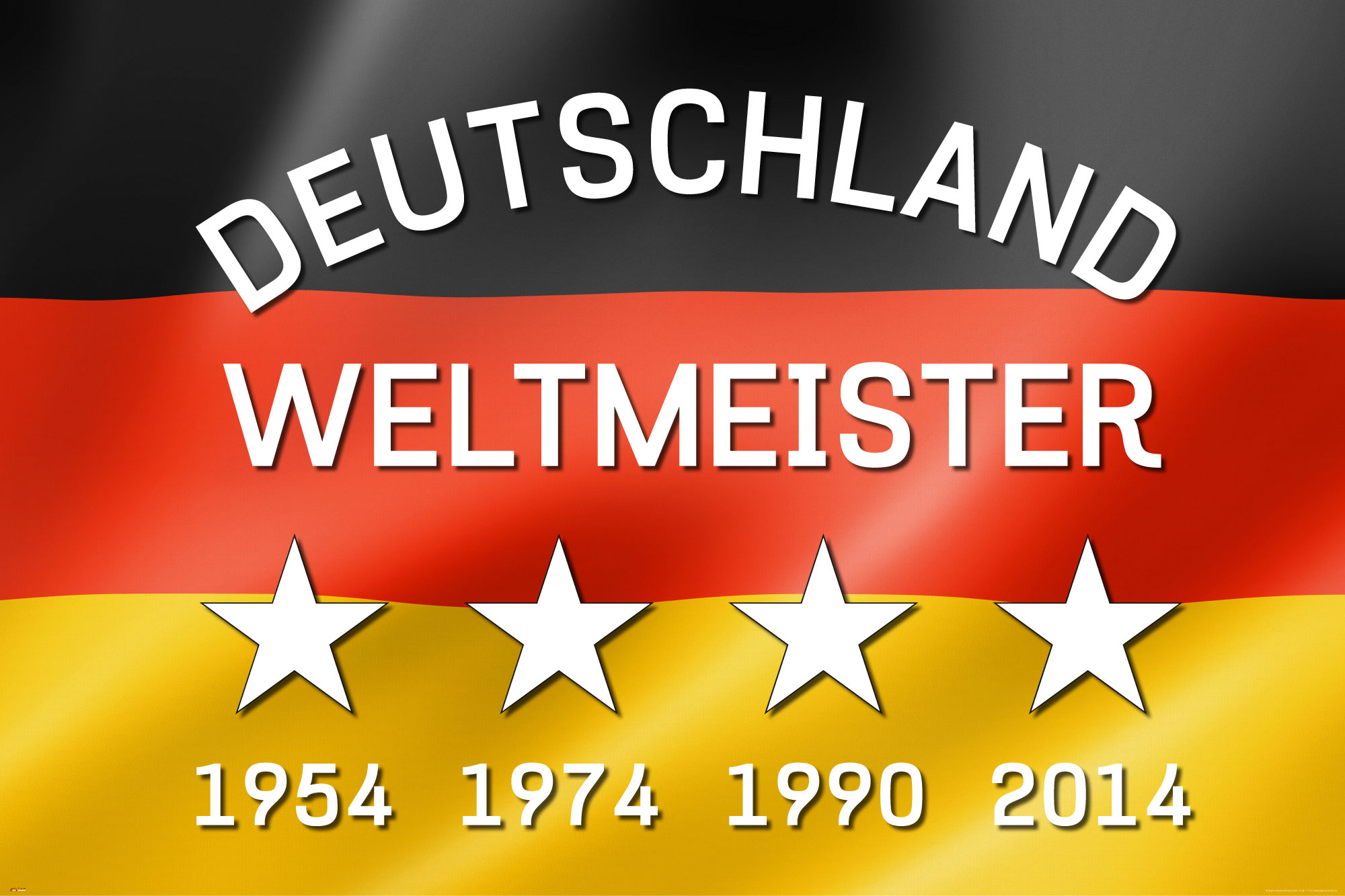 Details Zu Fussball Deutschland Weltmeister Fahne Flagge Poster Druck Grosse 91 5x61 Cm