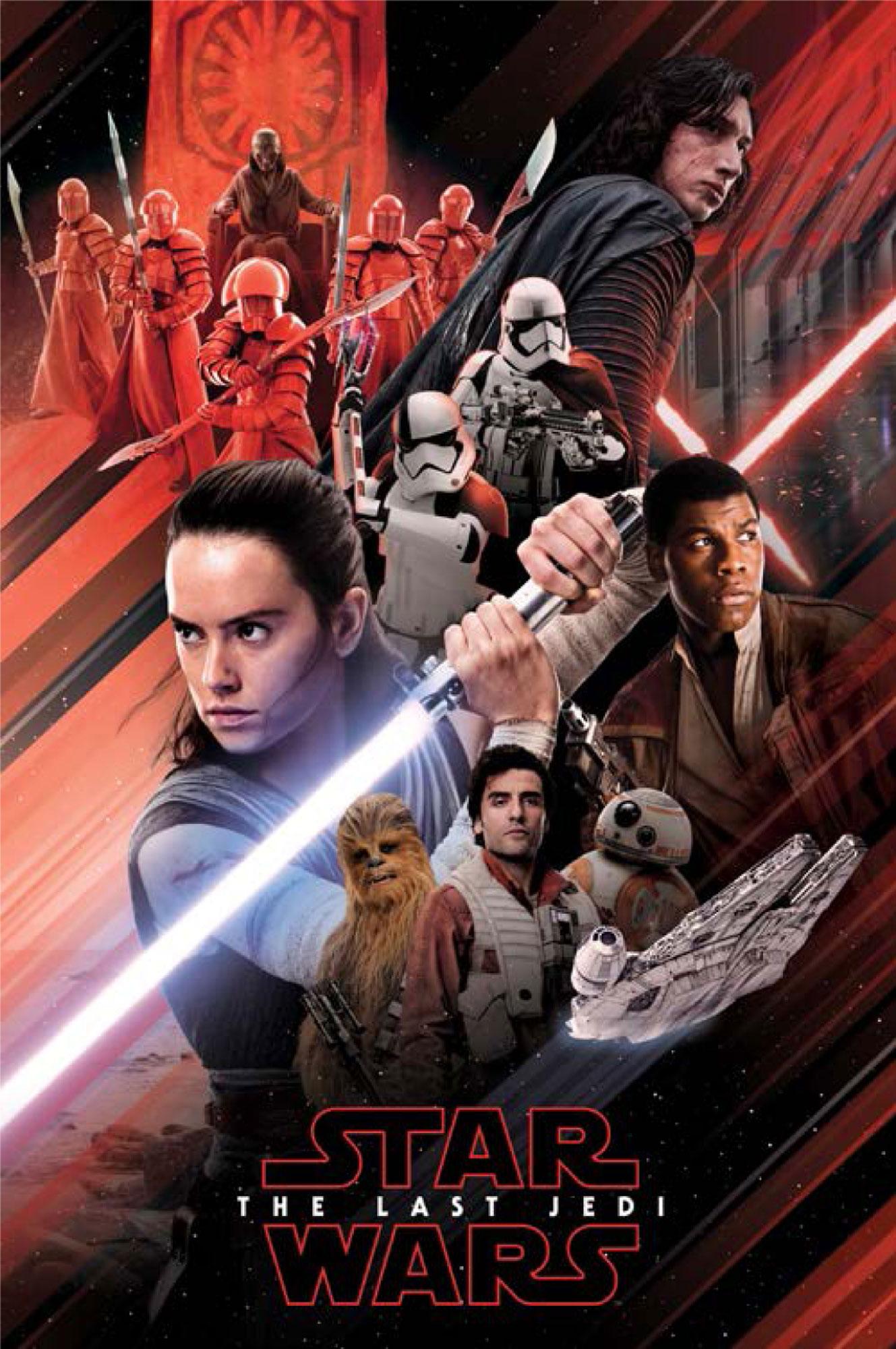 Star Wars - The Last Jedi - Red Montage - Poster Plakat - Größe ...