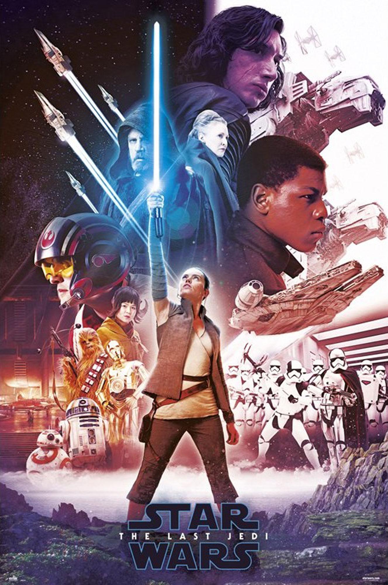 Star Wars - The Last Jedi - EP8 - Blue Saber - Poster Plakat - Größe ...