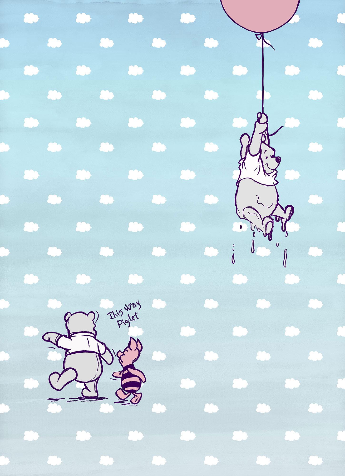 Winnie The Pooh - Disney Foto-Tapete - Winnie Pooh Piglet - Foto ...