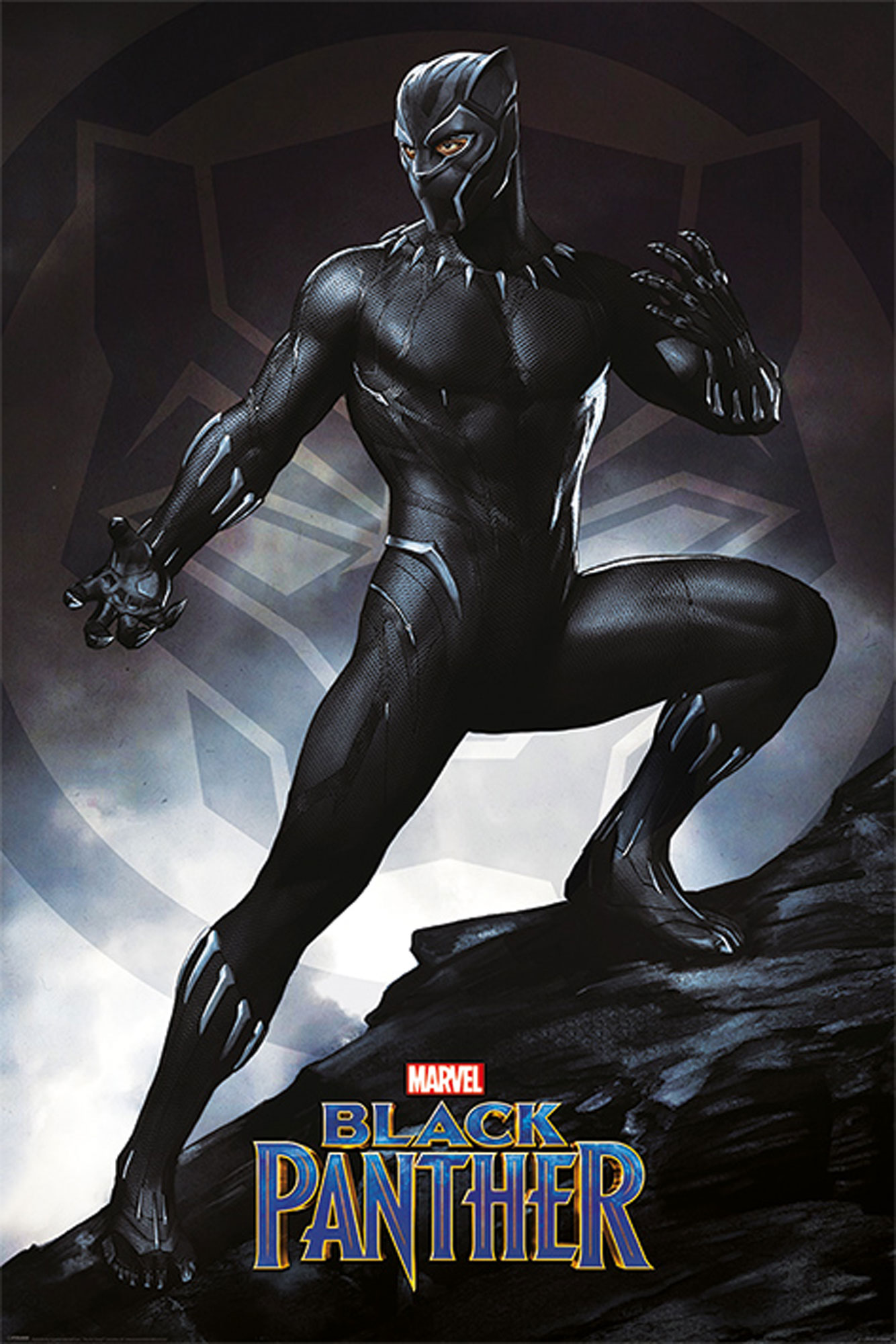 Black Panther - Stance - Film Kino Movie Poster Plakat Druck - Größe ...