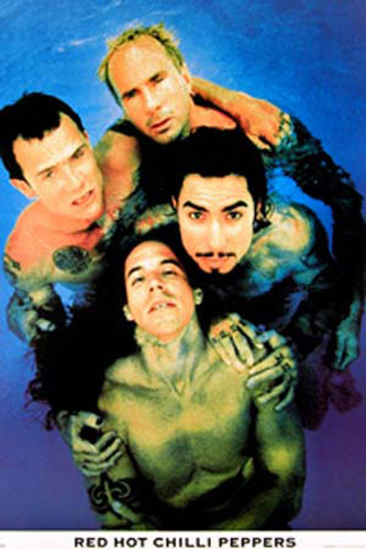 Red Hot Chili Peppers - Poster - Band, Blue