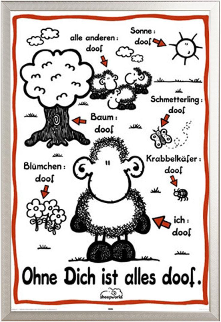 Sheepworld - Ohne Dich ist Alles Doof - Poster Druck