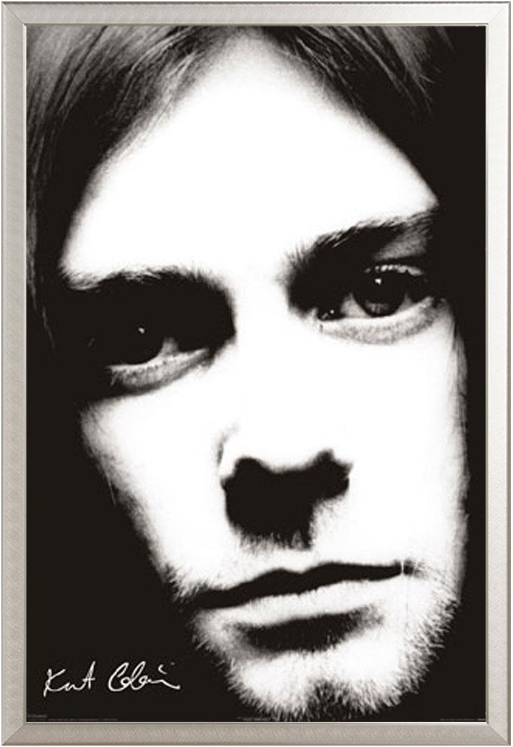 Kurt Cobain Nirvana - Face - Musik - Poster Druck - Größe 61x91,5 cm ...