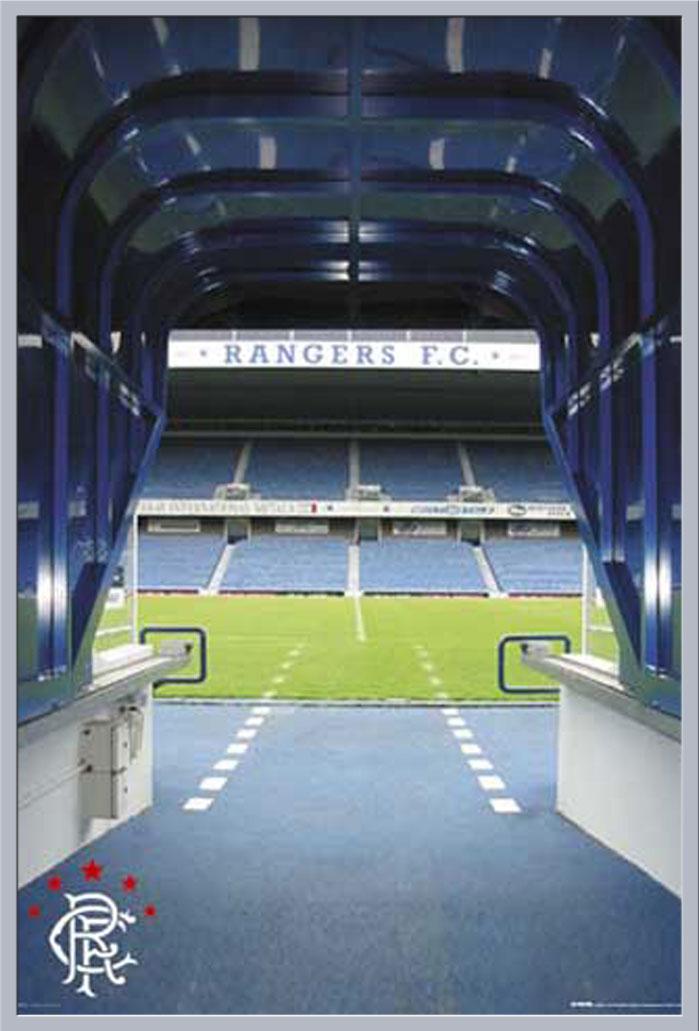 Details Zu Fussball Ibrox Tunnel Rangers Stadion Poster Druck Grosse 61x91 5 Cm