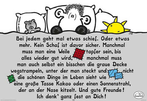 Sheepworld Decke Ohne Dich Ist Alles Doof.Sheepworld Decke Poster 91 5x61