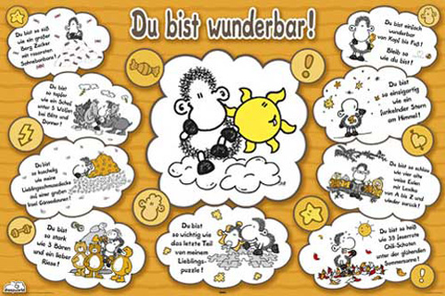 sheepworld du bist wunderbar poster 91 5x61. Black Bedroom Furniture Sets. Home Design Ideas