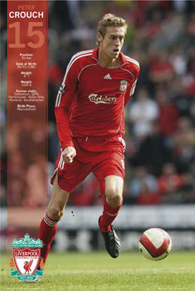 fußball  liverpool crouch  poster  61x915