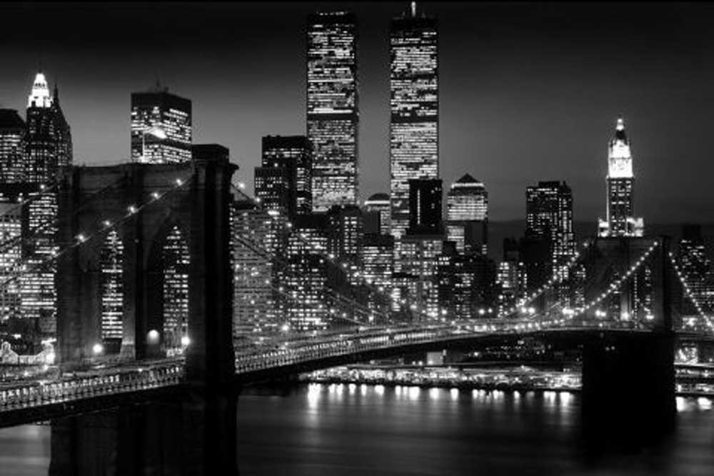 new york brooklyn bridge version 2 poster 91 5x61. Black Bedroom Furniture Sets. Home Design Ideas