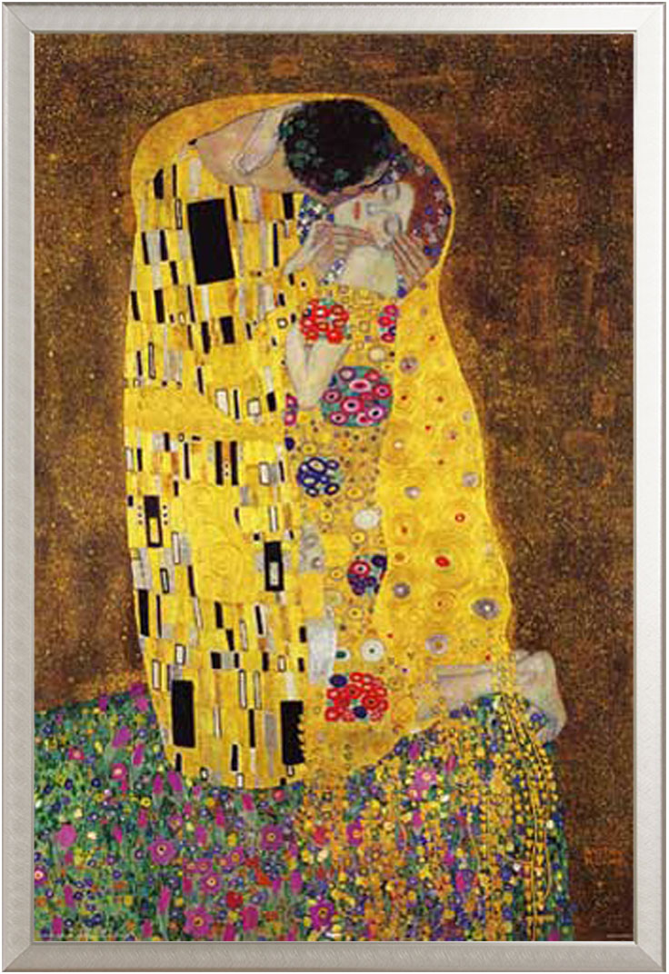 gustav klimt der kuss the kiss kunst poster druck gr e 61x91 5 cm ebay. Black Bedroom Furniture Sets. Home Design Ideas