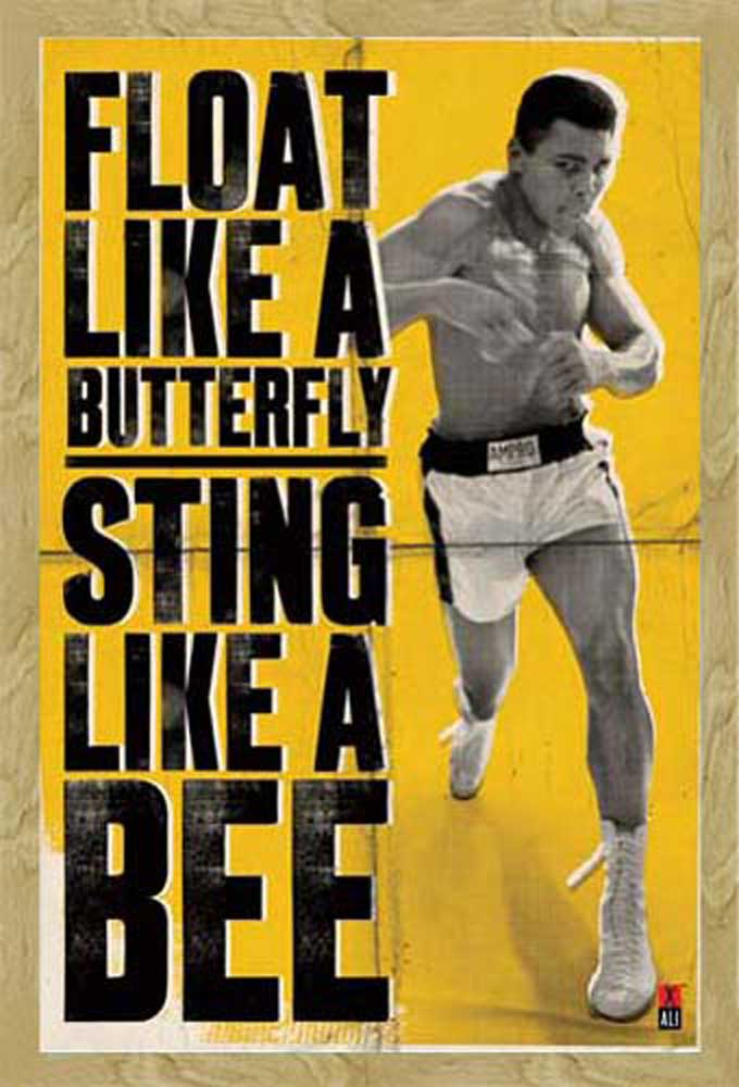 muhammad ali float boxing sport poster druck gr e 61x91 5 cm ebay. Black Bedroom Furniture Sets. Home Design Ideas