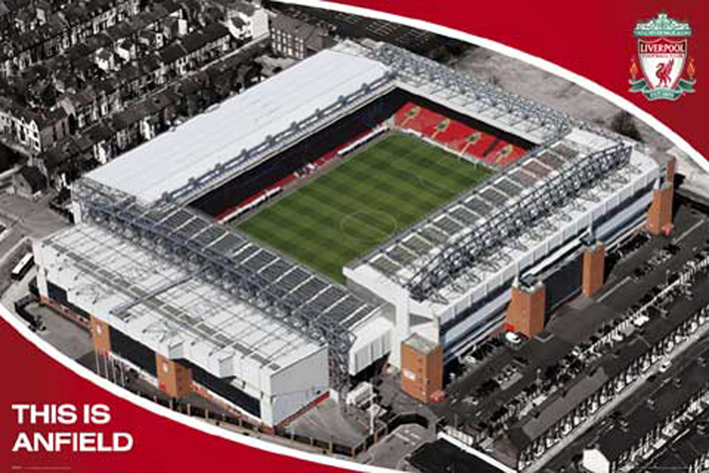 Fussball Liverpool Anfield Stadion Poster 91 5x61