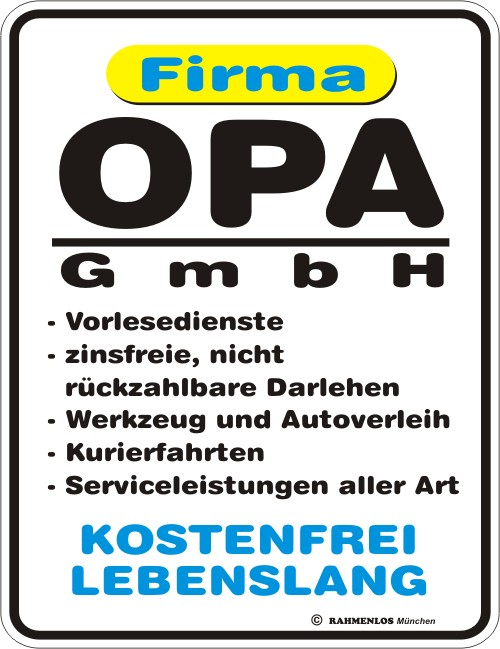 opa gmbh blech schild spruch fun schilder 17x22. Black Bedroom Furniture Sets. Home Design Ideas
