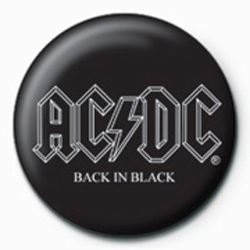 AC/DC - Button Badge - Back In Black BT 123