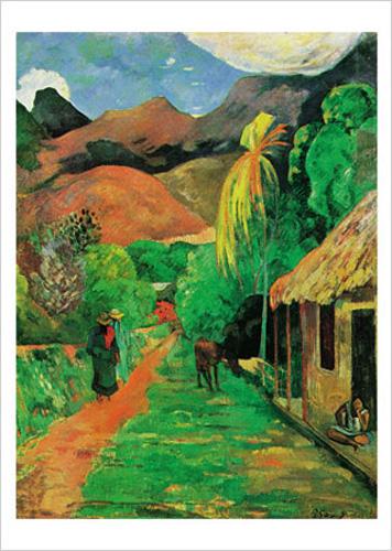 Paul Gauguin: Te poi poi. Kunstdruck, Leinwandbild