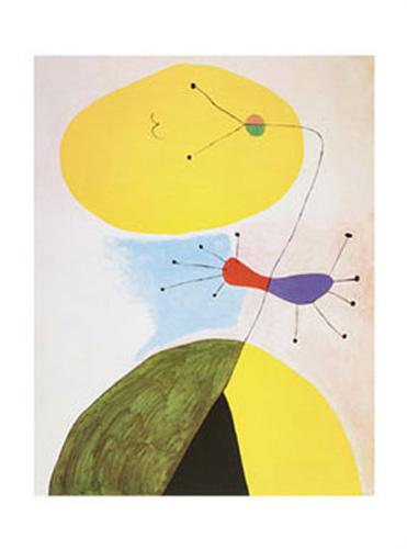Joan Miro Libelle mit roten Fluegeln Poster Kunstdruck Bild 60x80cm