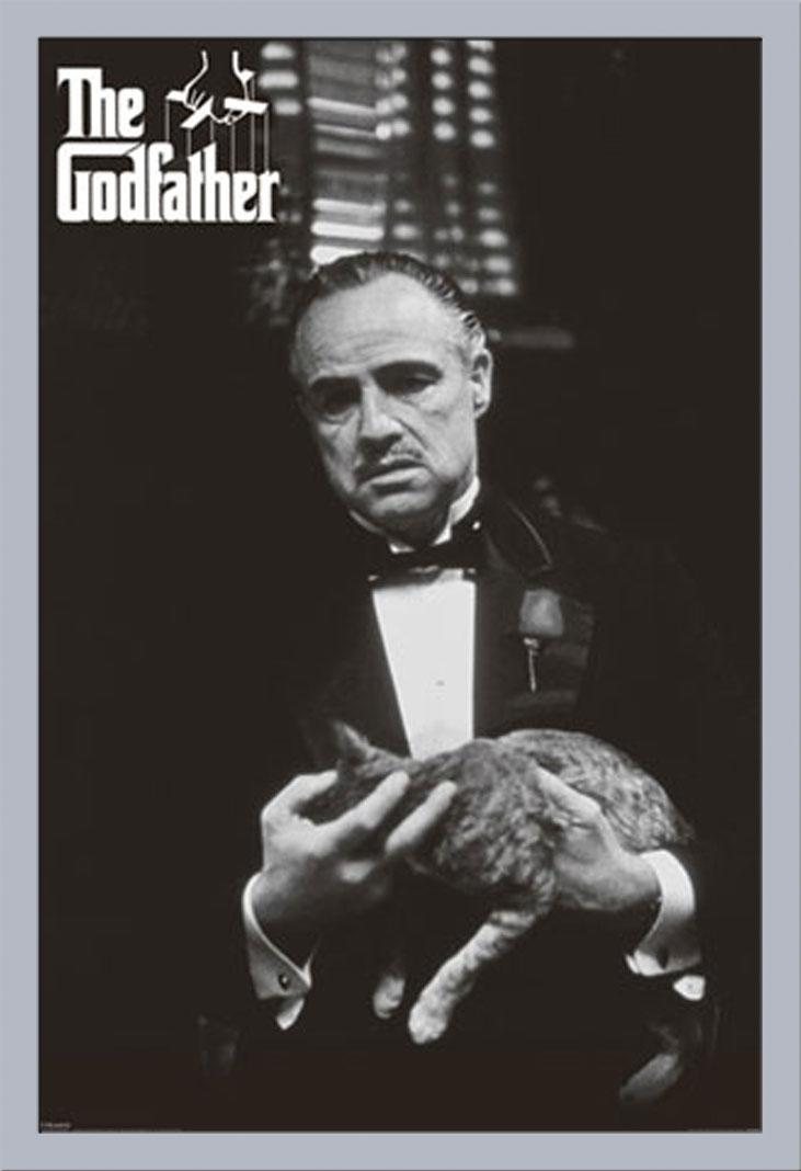 Der Pate - Marlon Brando Katze - Film Movie Kino - Poster Druck ...