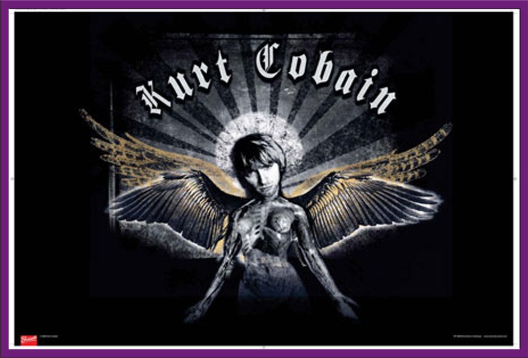 Kurt Cobain Nirvana - Wings - Musik - Poster Druck - Größe 91,5x61 ...