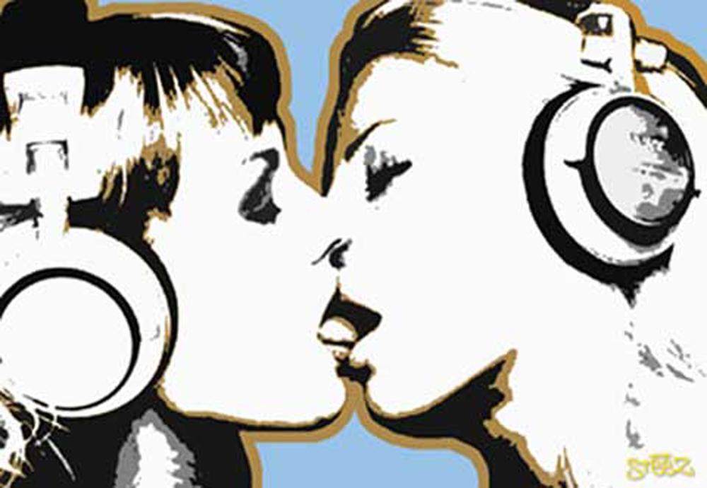 Steez dj girls kiss poster 91 5x61