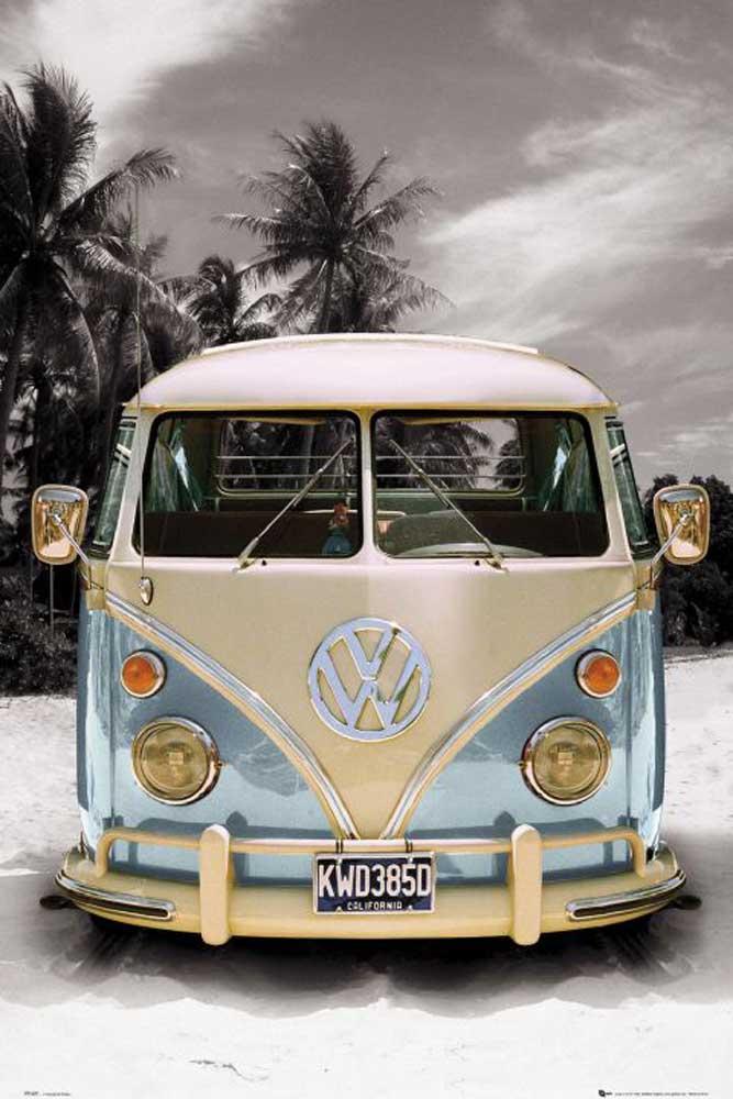 volkswagen vw bus poster 61x91 5. Black Bedroom Furniture Sets. Home Design Ideas