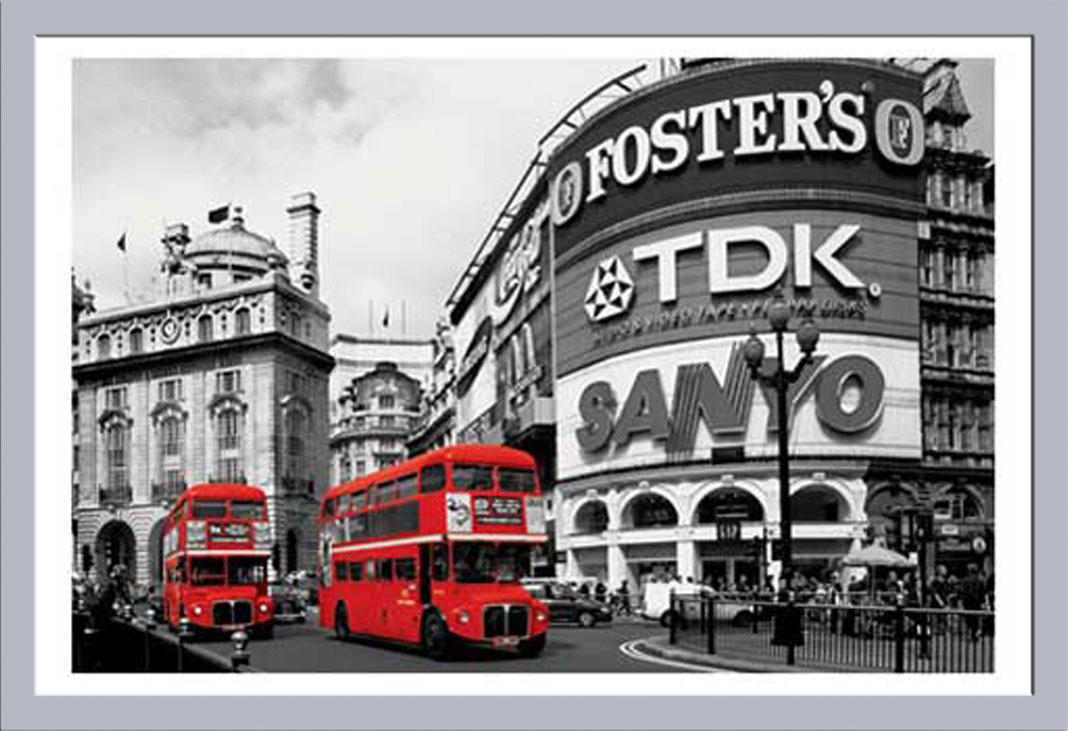 London - Piccadilly Circus colourlight - Poster - 91,5x61