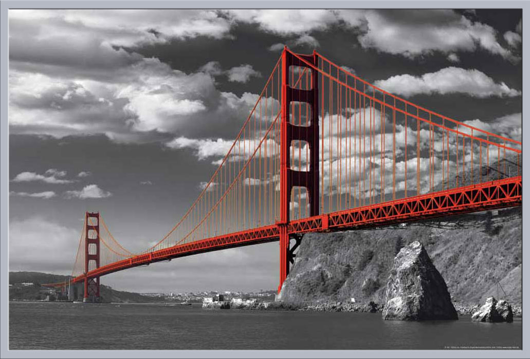 san francisco golden gate bridge colorlight poster 91 5x61. Black Bedroom Furniture Sets. Home Design Ideas