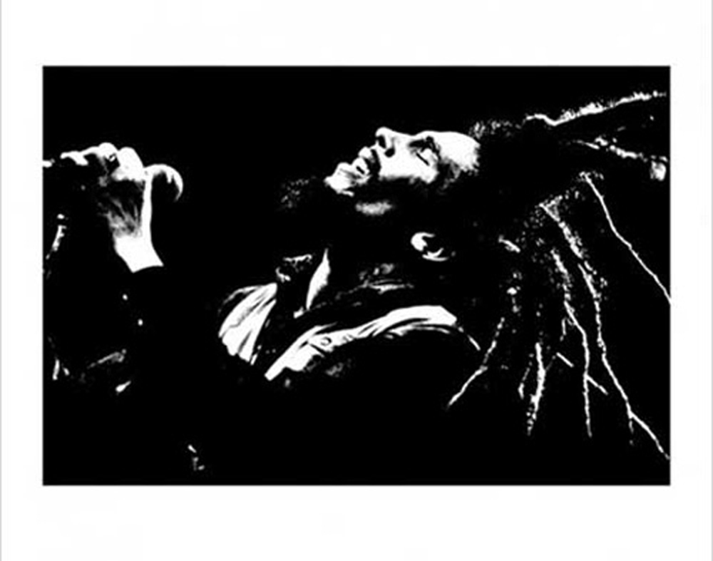 Bob Marley - Kunstdruck / Art Poster - Black & White